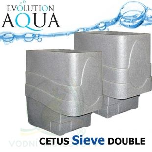 Cetus Sieve DOUBLE, 2x Cetus v gravity/pump verzi Evolution Aqua