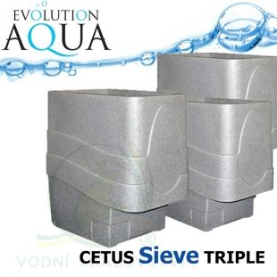 Cetus Sieve TRIPLE, 3x Cetus v gravity/pump verzi Evolution Aqua