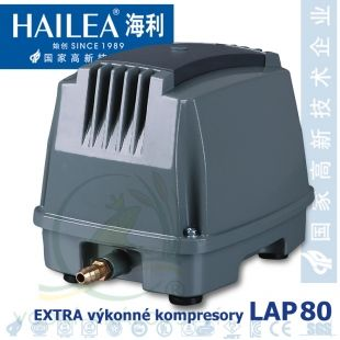 Extra výkonný kompresor LAP-80, 90 litrů/min., 76 Watt Hailea