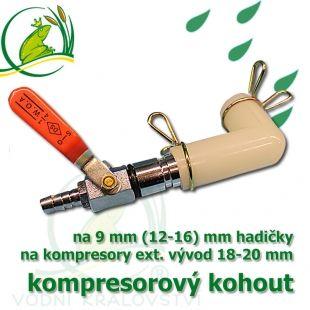 Kompresorový kohout, jednocestný na 9-13 mm hadičku Vodní království
