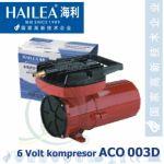 Pístový kompresor Hailea ACO 003D 6V, 55 litrů/min., 25 Watt