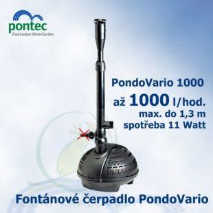 Pondovario 1000, fontánové čerpadlo, Oase Pontec, 1000 l/hod., výtlak 1,3 m, spotřeba 11 Watt Oase Living Water