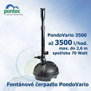 Pondovario 3500, fontánové čerpadlo, Oase Pontec, 3400 l/hod., výtlak 2,6 m, spotřeba 70 Watt Oase Living Water