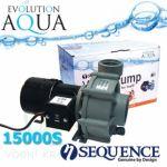 Sequence 15000S, výkon až 15.755 l/hod., spotřeba 146-218 Watt, výtlak až 4,8 m, až 3 roky záruka