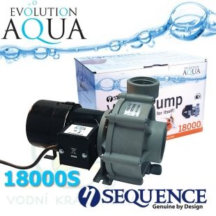 Sequence 18000S, výkon až 18.890 l/hod., spotřeba 152-262 Watt, výtlak až 4,9 m, až 3 roky záruka Evolution Aqua