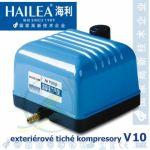 Tichý kompresor Hailea V-10, 10 Watt, 10 l/min.