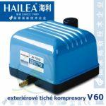 Tichý kompresor Hailea V-60, 35 Watt, 60 l/min.