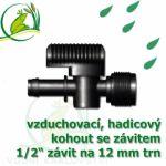 """Vzduchovací (hadičkový) kohout pro 12-13 mm, s externím závitem 1/2"""";129.00"""""""