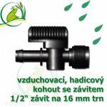"""Vzduchovací (hadičkový) kohout pro 16 mm, s externím závitem 1/2"""";129.00"""""""