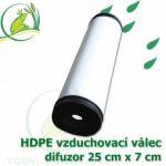 Vzduchovací HDPE válec, 250x70 mm