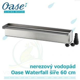 Waterfall Set 60 Solo, nerez vodopád šíře 60 cm, výška 60 cm, podstavec Oase Living Water