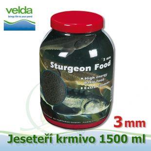 1500 ml jeseteří krmivo o velikosti 3 mm, pro malé i velké jesetery, pro celoroční krmení Velda