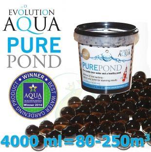 Pure Pond Black Balls bacterials, startovací a čistící samo se dávkující bakterie pro bio-rovnováhu ve filtracích a jezírku, 4000 ml pro 80-400 m3, pro celoroční použití od 4 °C Evolution Aqua
