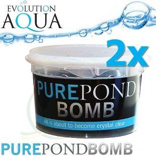 Pure Pond BOMB 2x V BACTERIAL POND LIQUID, čistící a startovací bakterie pro bio-rovnováhu v jezírku, použitelné po celý rok, aplikace od 4 °C vody v jezírku, 2 ks pro 20-160 m3 Evolution Aqua