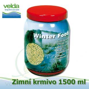 Zimní krmivo pro veškeré druhy ryb, 1500 ml, malé granulky cca 2-3 mm, neplovoucí Velda
