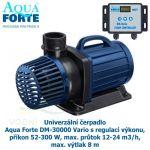 AquaForte DM-30000 Vario, čerpadlo s regulací výkonu, příkon 52-300 W, max. průtok 12-24 m3/h, max.