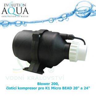 BLOWER 200, ČISTÍCÍ KOMPRESOR PRO K1 MICRO BEAD 20 A 24 PALCŮ Evolution Aqua