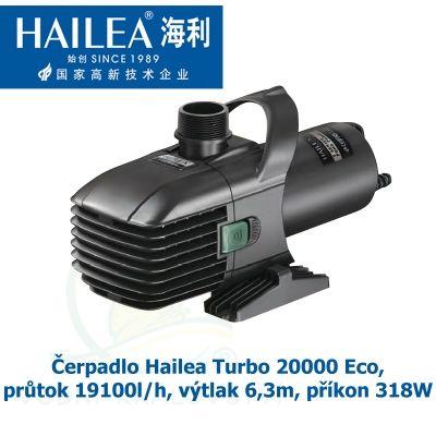Čerpadlo Turbo 20000 Eco ABS, výkon 19100l/h, výtlak 6,3m, příkon 318W Hailea