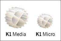 Evolution Aqua K1-micro 25 litrů, filtrační médium s největší chráněným filtračním povrchem na trhu