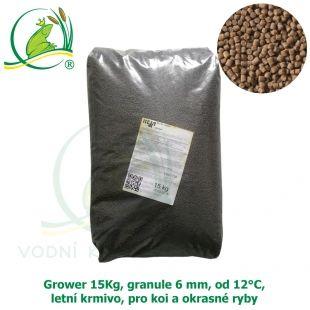 GROWER 15KG, GRANULE 6 MM, OD 12°C, LETNÍ KRMIVO, PRO KOI A OKRASNÉ RYBY VK