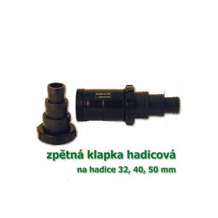 Hadicová zpětná klapka, pro napojení 32, 40, 50 mm Vodní království