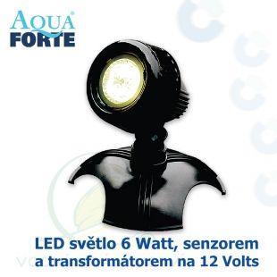 LED osvětlení jezírek a zahrad o výkonu 1x6 Watt se senzorem, včetně trafa a kabelu Aqua Forte