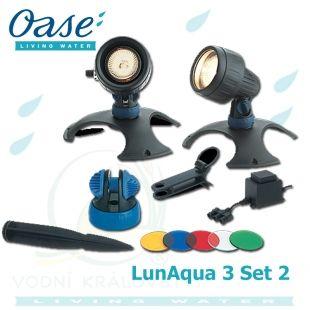 LunAqua 3 Set 2, sada trafo + 2x20 Watt světlo Oase Living Water