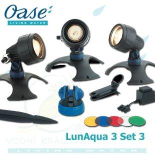 LunAqua 3 Set 3, sada trafo + 3x20 Watt světlo Oase Living Water