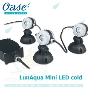 LunAqua Mini LED cold, set 3 světel, trafa a kabelů Oase Living Water