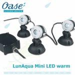 LunAqua Mini LED warm, set 3 světel, trafa a kabelů Oase Living Water