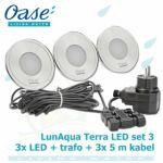LunAqua Terra LED Set 3, 12 Volt 3xLED osvětlení s bílým světlem, pro jakékoliv instalace Oase Living Water