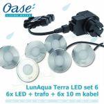 LunAqua Terra LED Set 6, 12 Volt 6xLED osvětlení s bílým světlem, pro jakékoliv instalace Oase Living Water