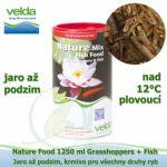 NATURE FOOD 1250 ML GRASSHOPPERS + FISH, OD 12°C, JARO AŽ PODZIM, VŠECHNY DRUHY RYB
