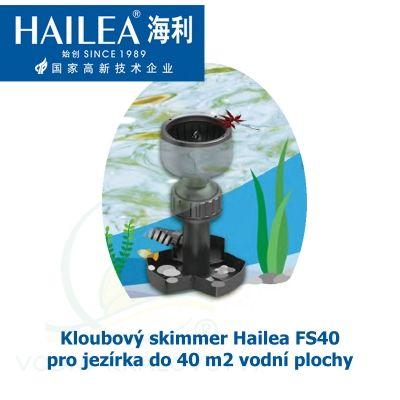 Tubusový skimmer kloubový s velkým plovákem o průměru 200 mm, pro jezírka do 40 m2 vodní plochy Hailea