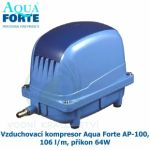 VZDUCHOVACÍ KOMPRESOR AQUA FORTE AP-100, 106 L/M, PŘÍKON 64W