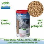 WINTER FISH FOOD 675 G/1250 ML, OD 4°C, GRANULE, ZIMNÍ KRMIVO PRO VŠECHNY DRUHY RYB