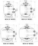 K1 Micro BEAD 24 palců, profesionální tlaková nízkotlaká filtrace pro jezírka 20-150 m3 Evolution Aqua