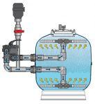 K1 Micro BEAD 30 palců, profesionální tlaková nízkotlaká filtrace pro jezírka 30-250 m3 Evolution Aqua